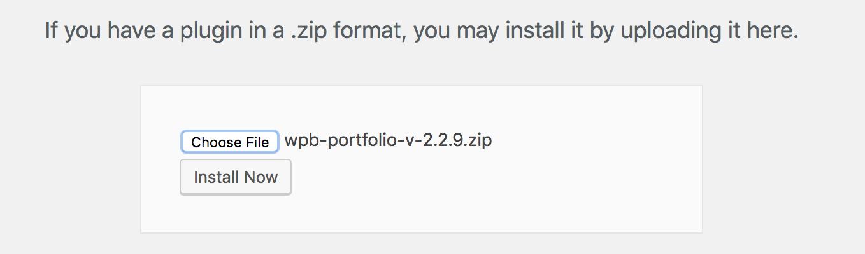 WPB Filterable Portfolio plugin upload